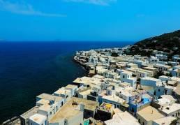 Häuser an der Küste von Kos