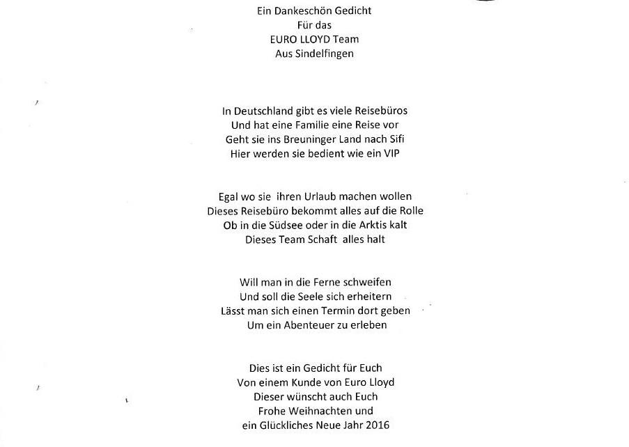 Ein Gedicht Als Weihnachtsgeschenk Euro Lloyd Reiseblog