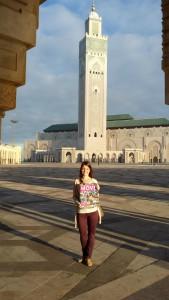 MOVE vor der Moschee Hassan II