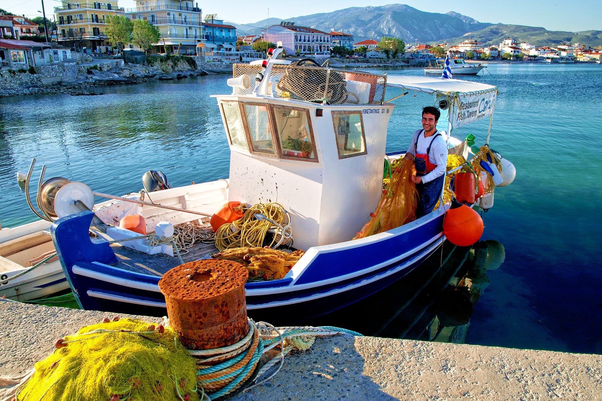 Fischerboot auf Samos