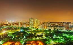 Bishan Park bei Nacht
