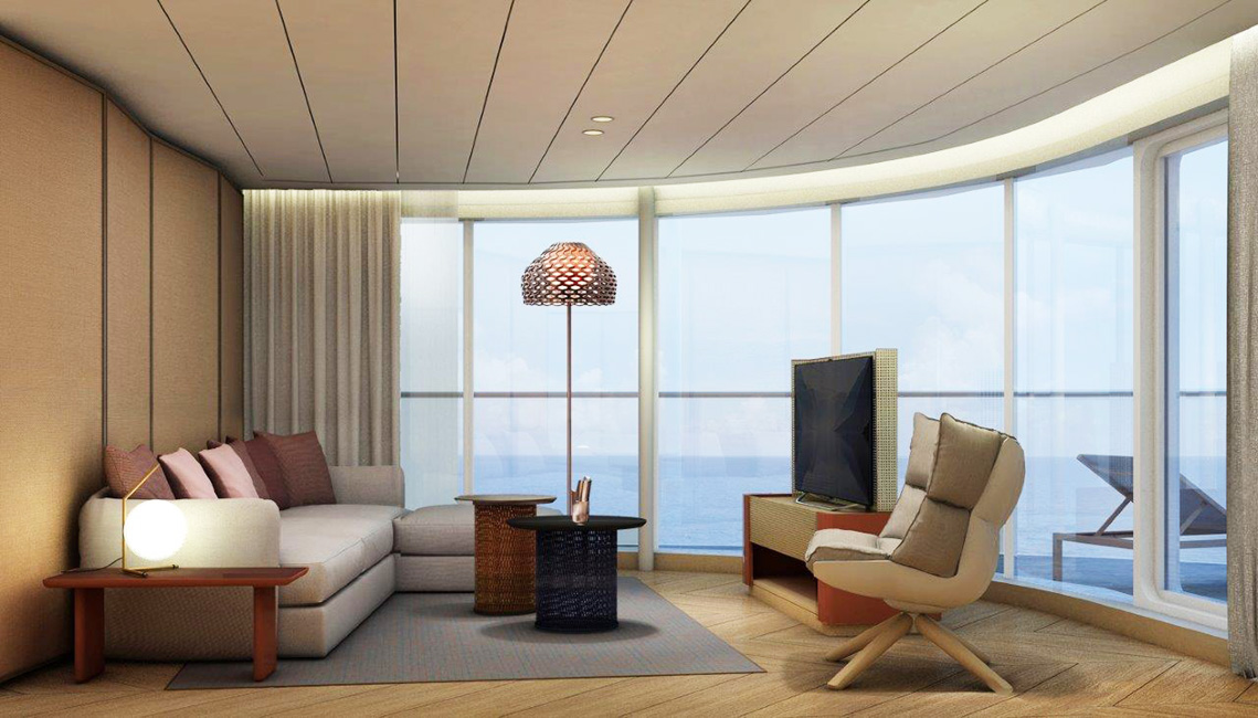 Panorama Suite Wohnbereich Deck 6