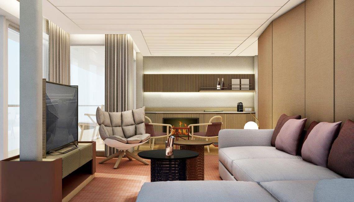 Panorma Suite Wohnbereich Deck 9 & 10