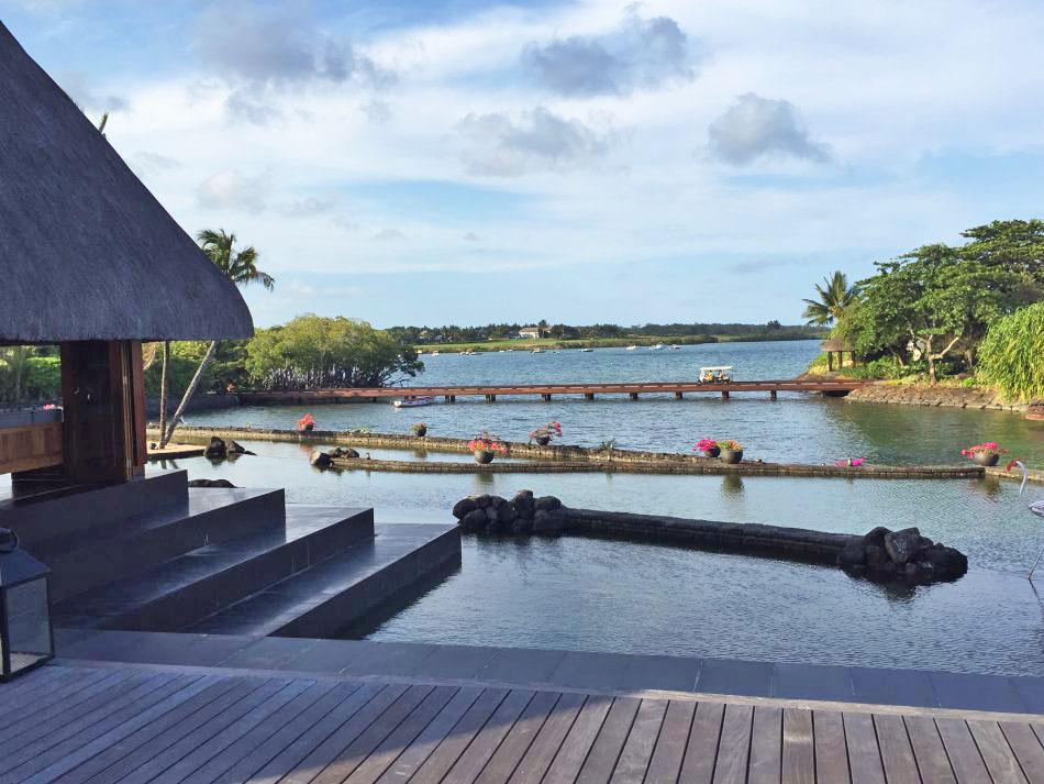 Blick auf die Bucht Four Seasons Mauritius