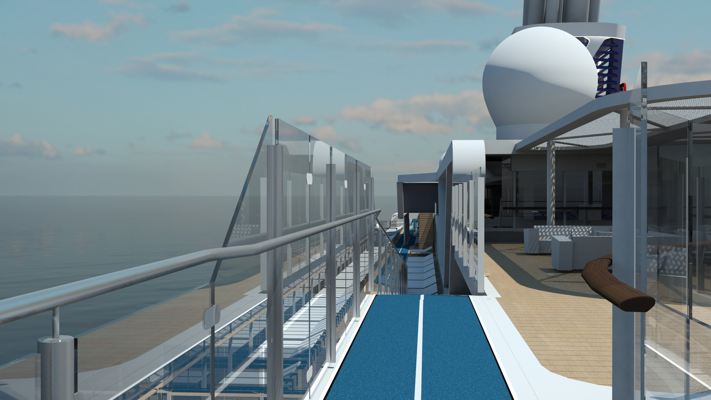 Laufstrecke auf der Mein Schiff 1