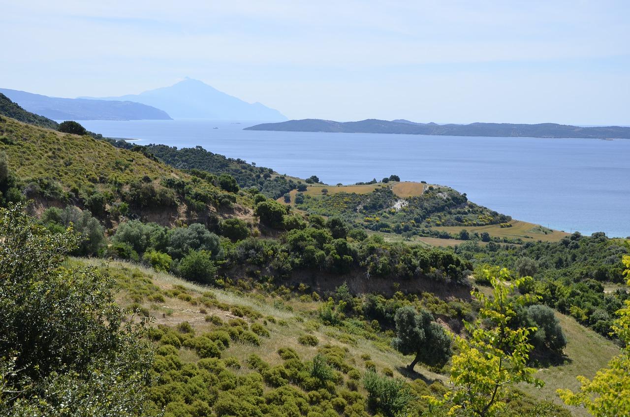 Blick auf den Berg Athos