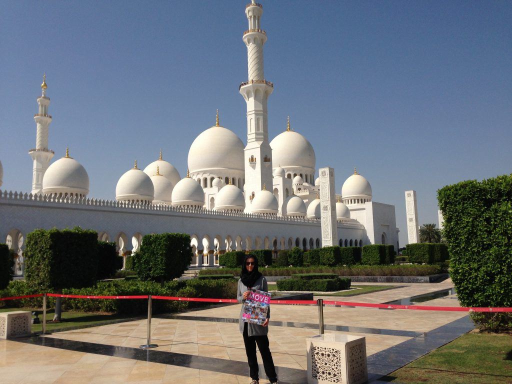 MOVE 2017 vor der vor der Sheik Zayed Moschee