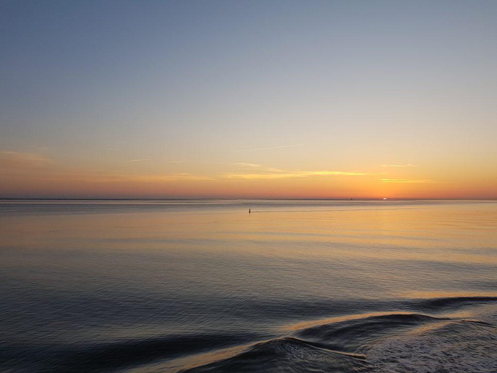 Der Horizont vom Deck der Norwegian Bliss