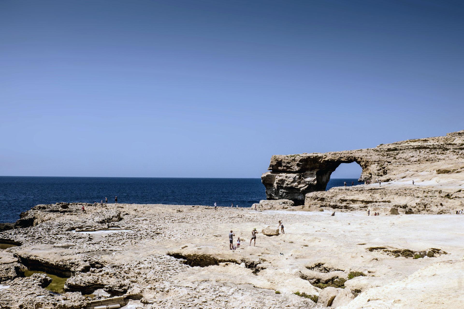 Bizarre Klippen und Felsformationen auf Malta