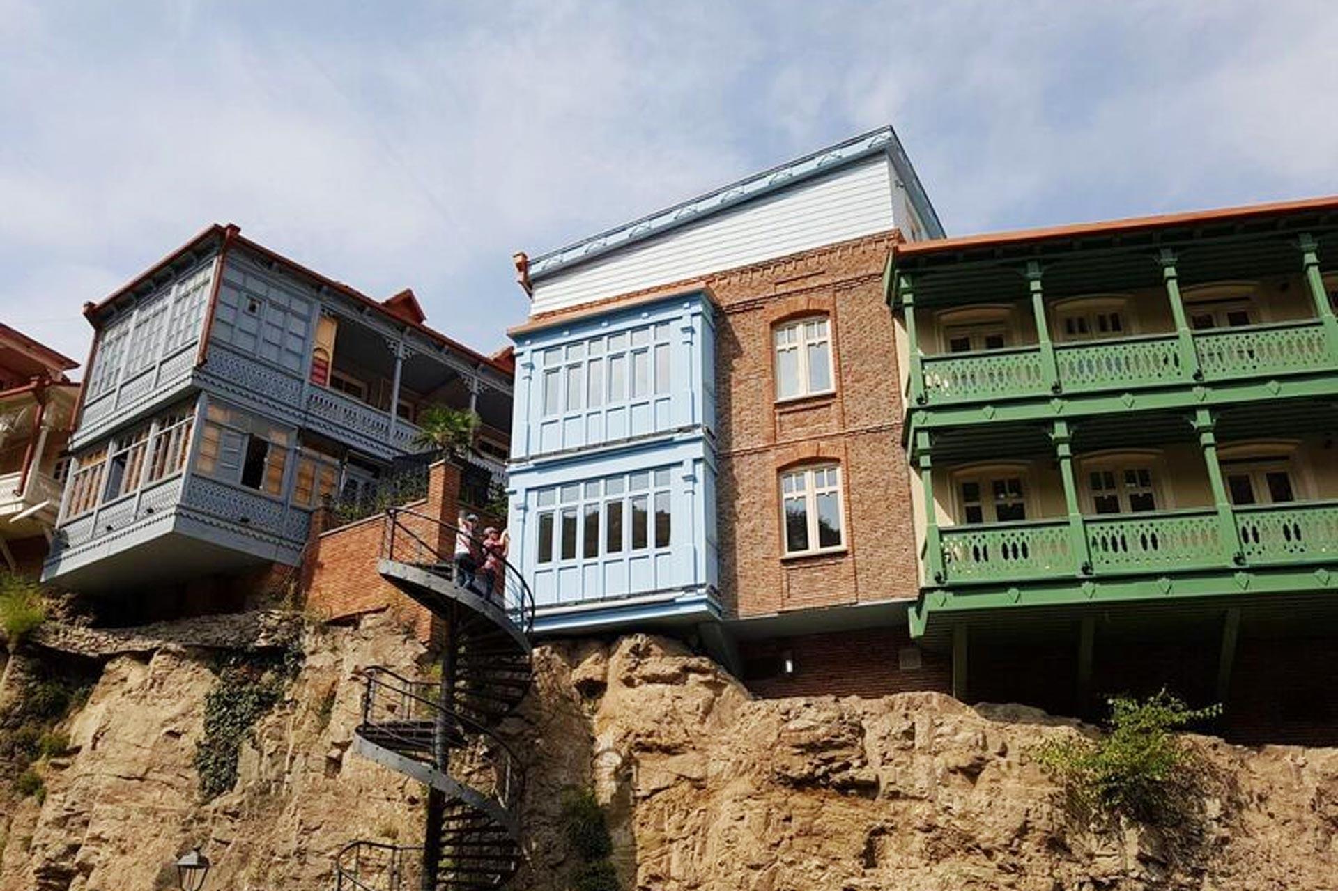 Häuser an der Wand