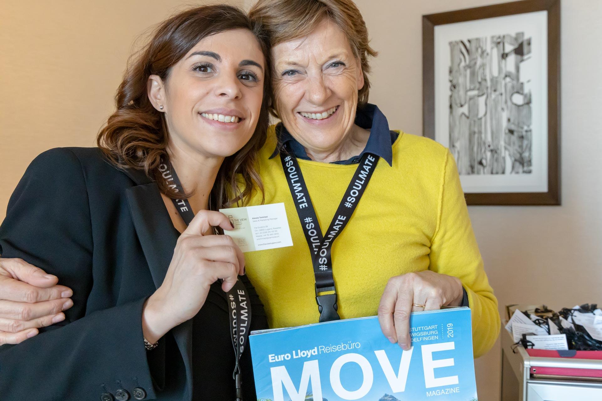 Alessia Tommasi von The View Lugano mit Gabriele Reminder-Schray