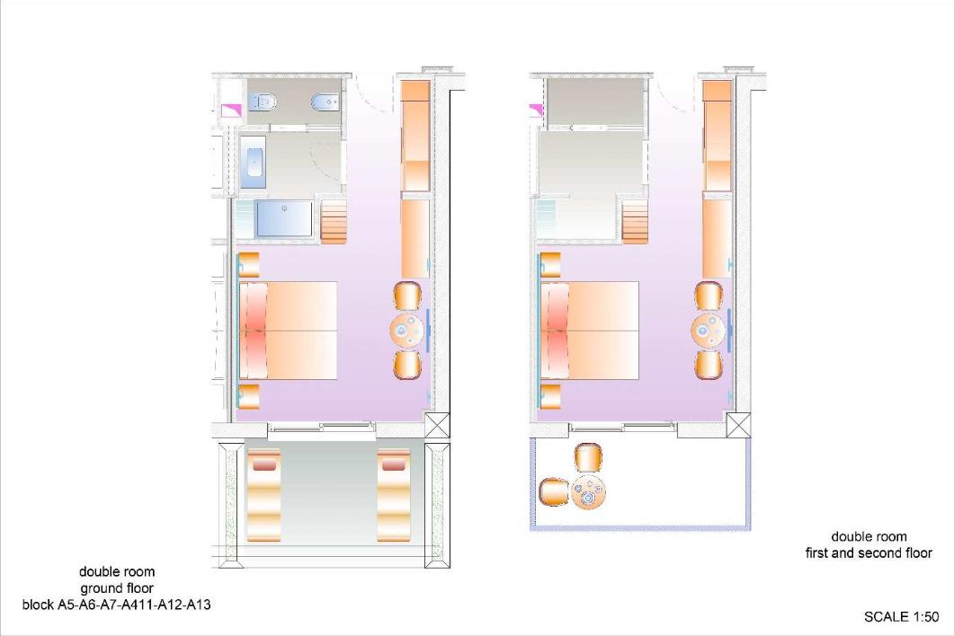 Modellbilder von dem Zimmer