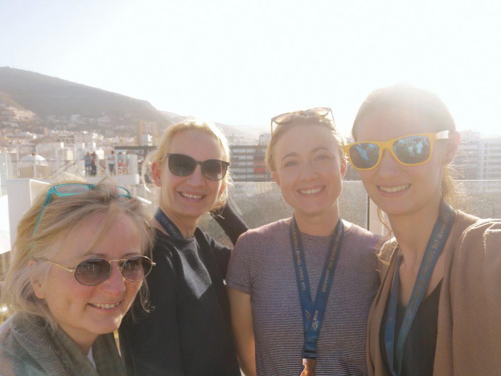 v.l.n.r. Daniela Kraft, Sarah Hüttmann, Jana Schwarz und Catrin Scherer