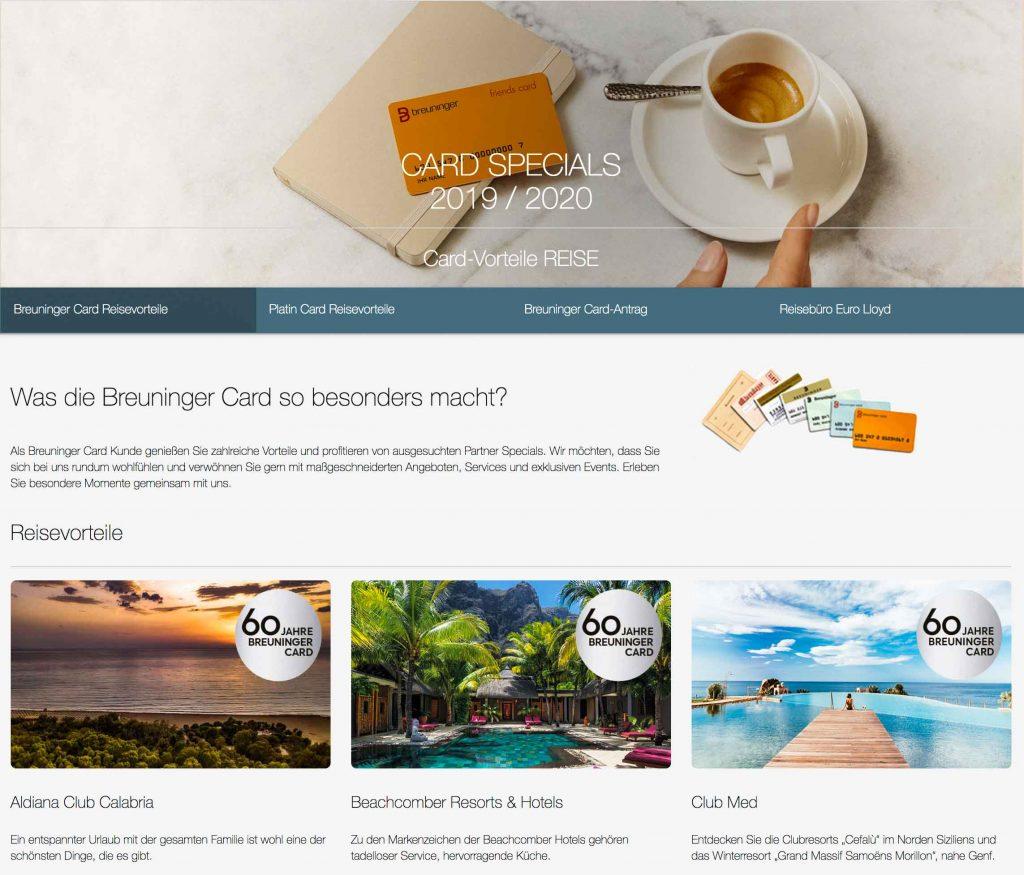 Breuninger Card Special Angebote