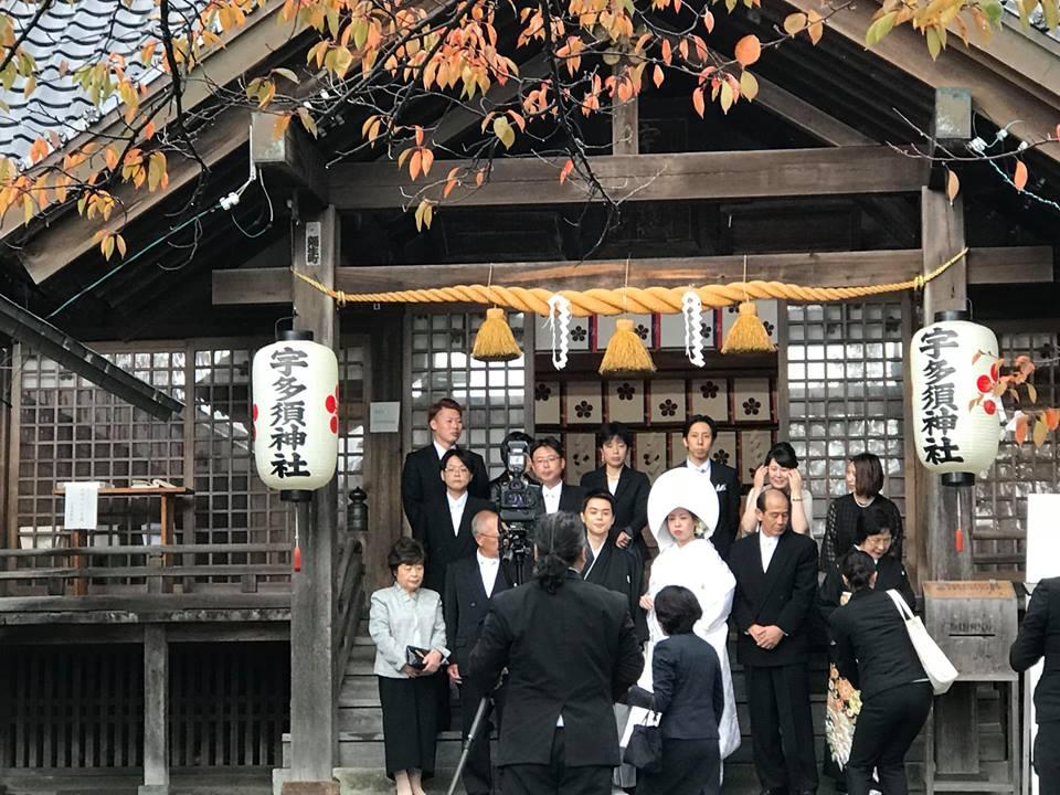 Hochzeitszeremonie in der Samurai Stadt Kanazawa