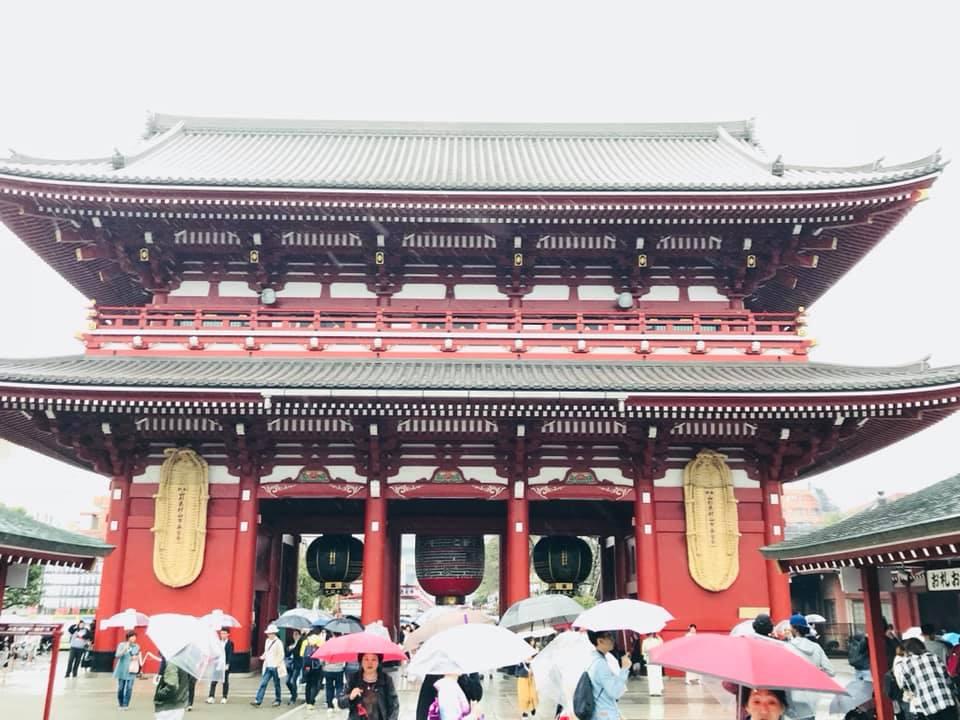 Kaminarimon Tori Asakusa Tempel Tokio
