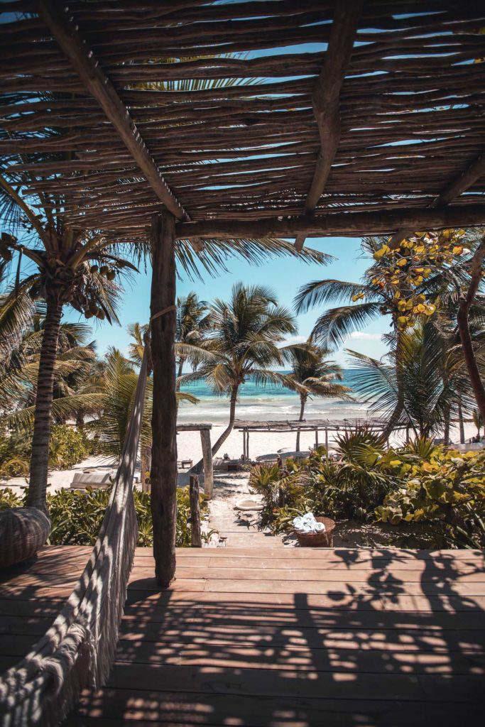 Blick zum Strand
