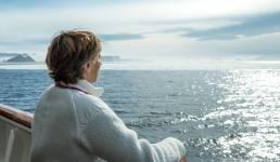Gabriele Reminder-Schray in der Antarktis