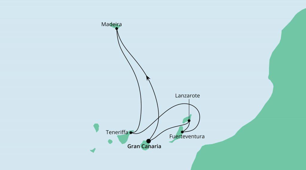 Kanaren & Madeira inkl. Flug ab/bis Stuttgart mit AIDA Mar