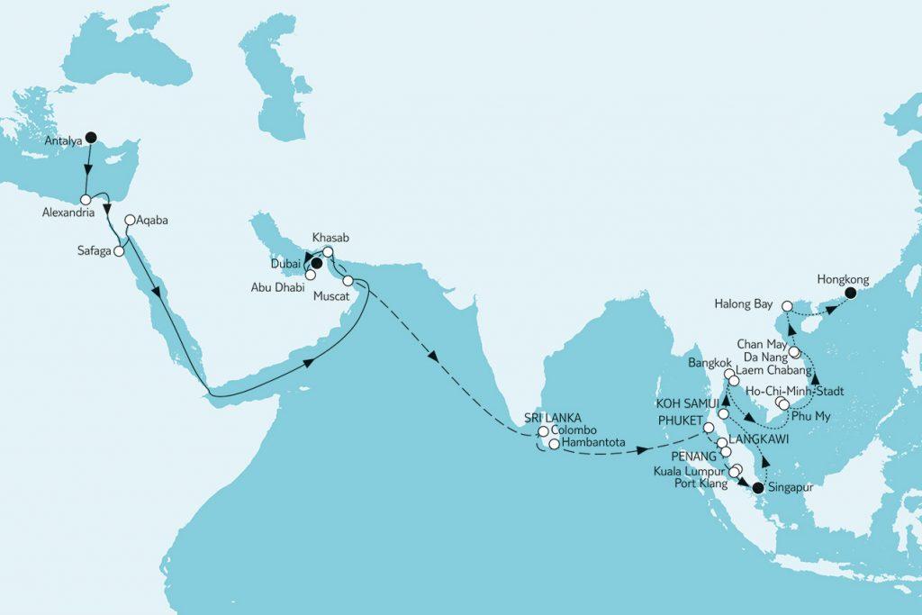Weltentdecker-Route in 48 Tagen um die halbe Welt