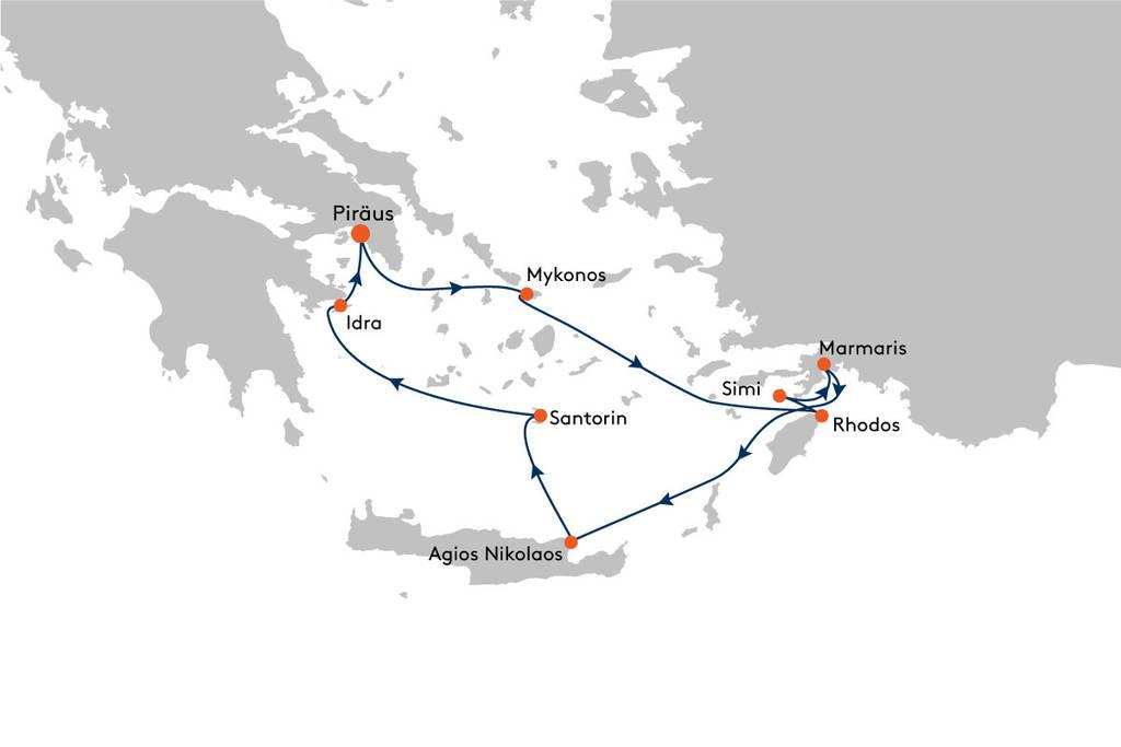 MS EUROPA 2 Piräus (Athen) nach Piräus (Athen)