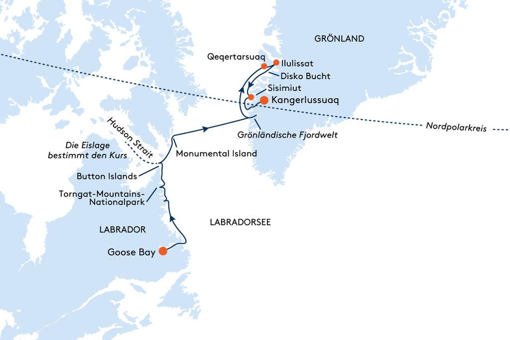 HANSEATIC INSPIRATION - Expedition Labrador, Hudson Strait und Grönland