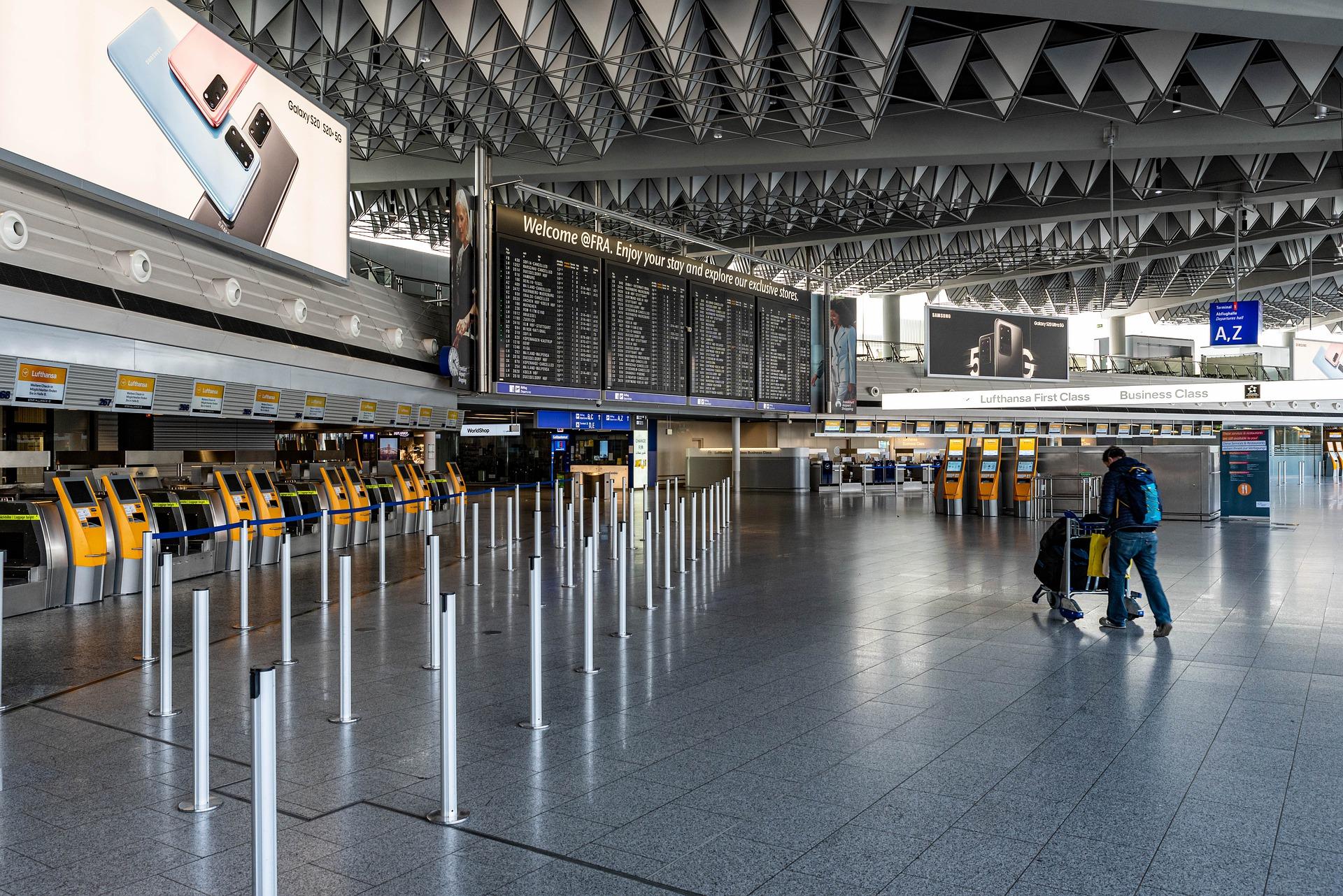 Flughafen in Frankfurt während der Coronazeit