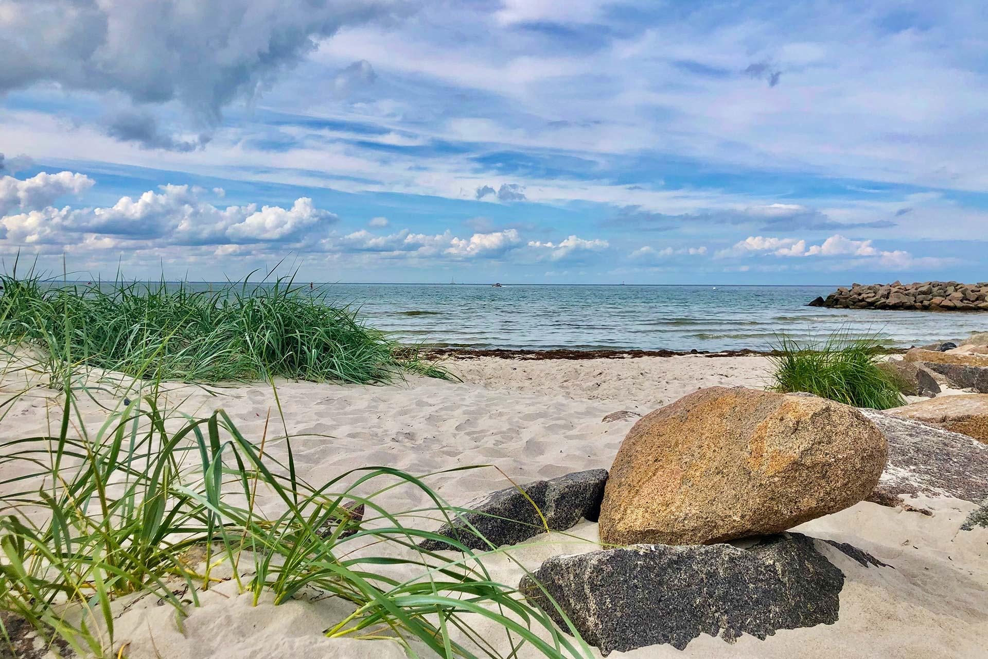 Strand in Kalifornien/ Ostsee