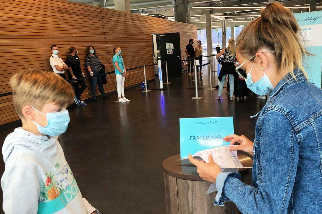 Gesundheits-Fragebogen einwerfen