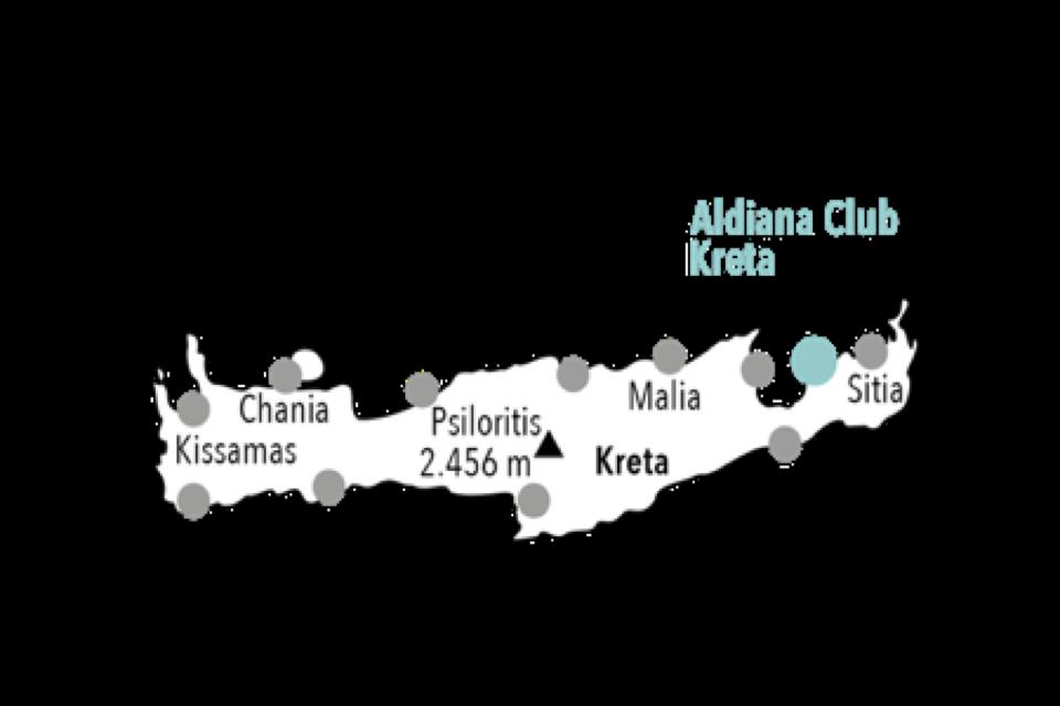Kreta Map Aldiana Club